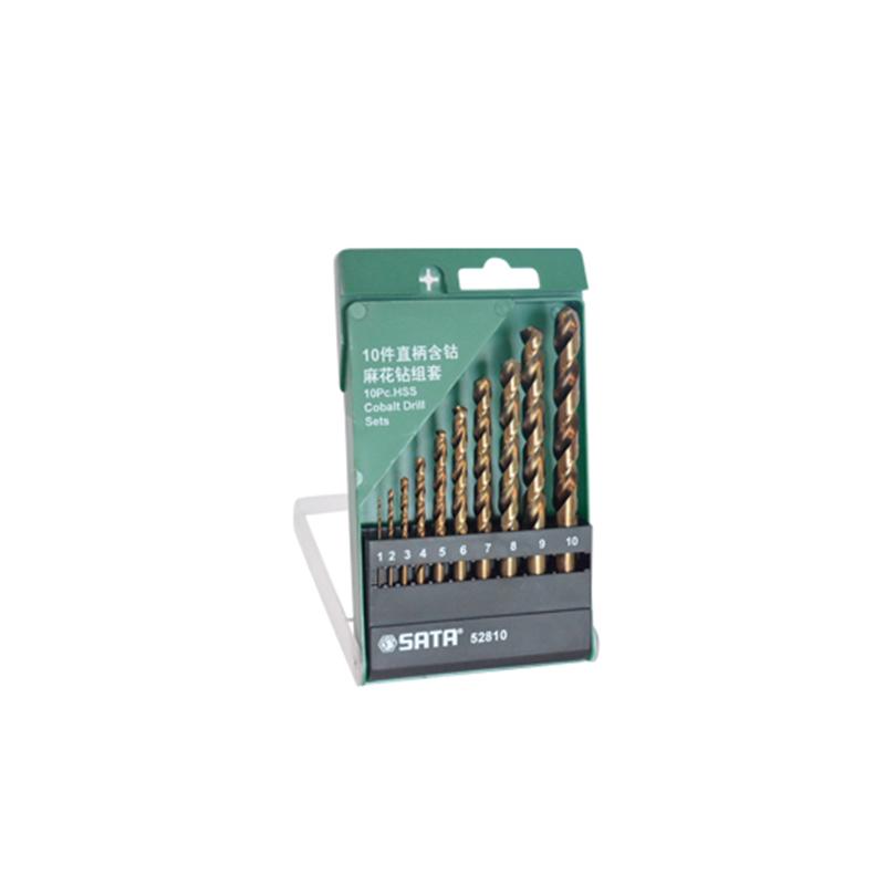 SATA世达10件直柄含钴麻花钻组套52810